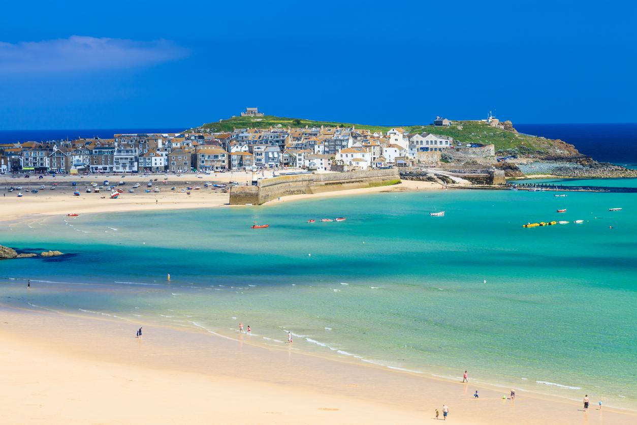 St Ives Beach, Cornwall, UK