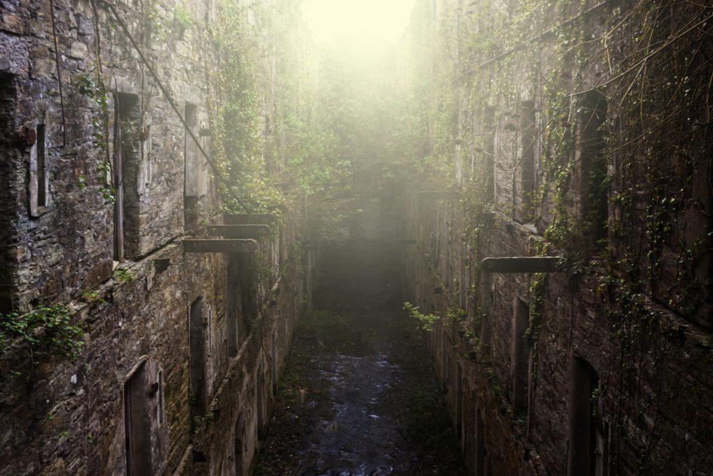 Bodmin Jail cell block near Bodmin in Cornwall