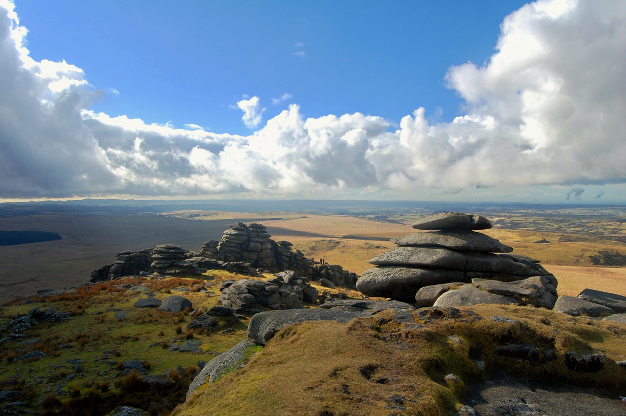 Lookout of Rough Tor on Bodmin Moor, Cornwall, South West England