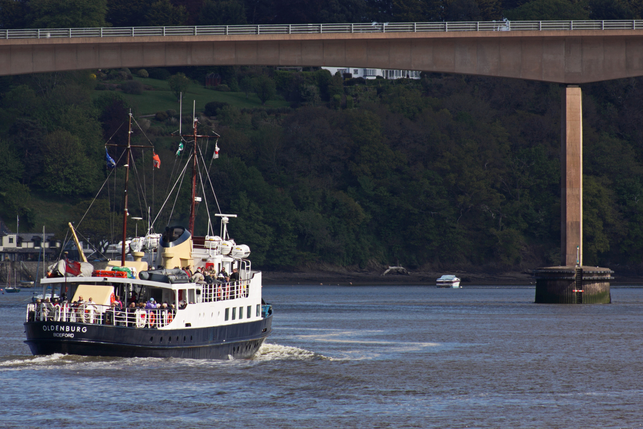 Boat going to Lundy Island from Bideford, North Devon