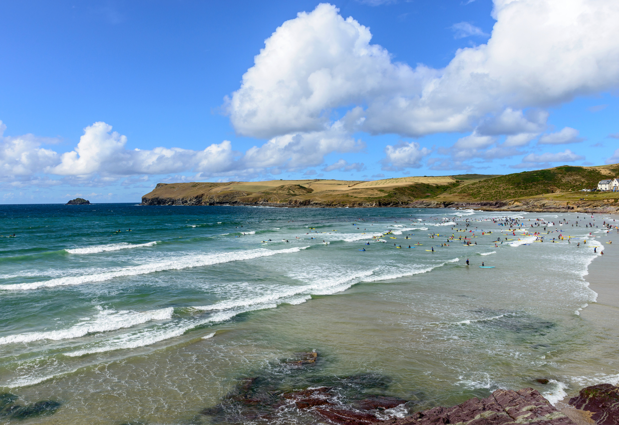 Polzeath Beach in Cornwall