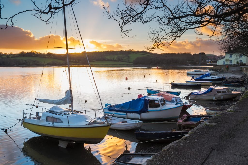 Sunset near Truro in Cornwall
