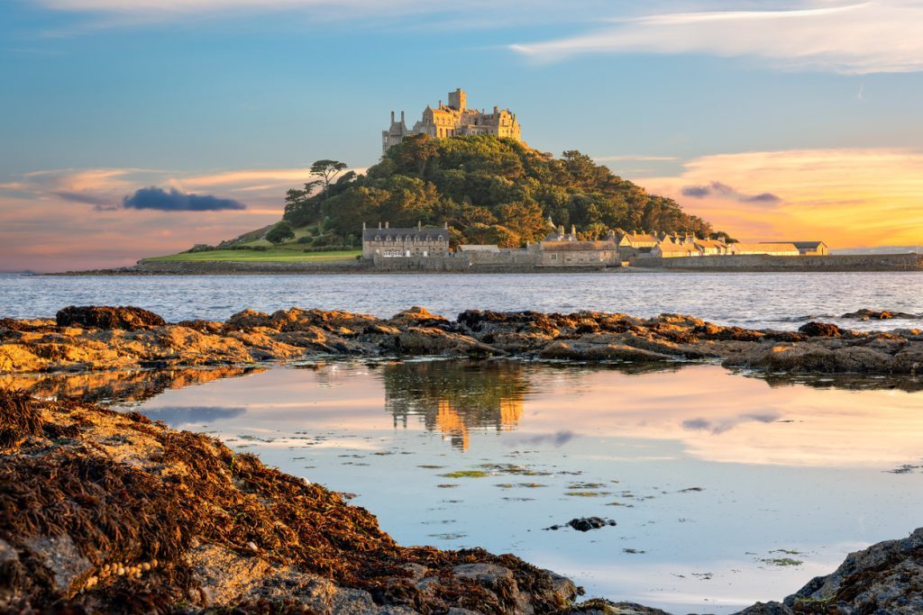 St Michael's Mount island in Cornwall