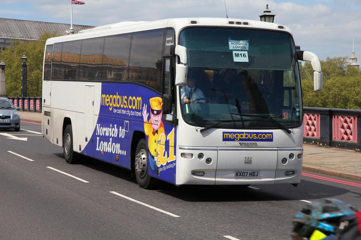 Megabus on the road