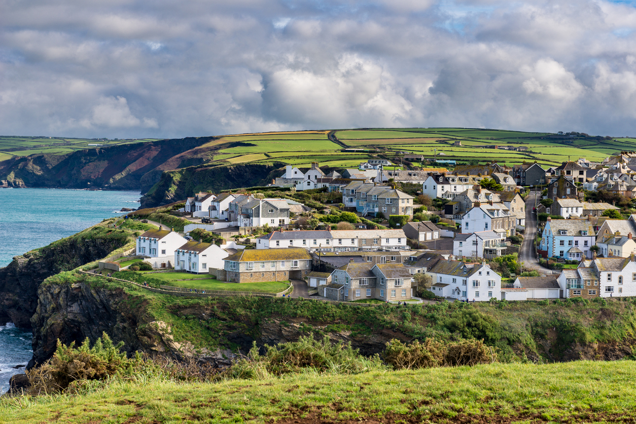 Port Isaac's bay and headland, Cornwall, South West England