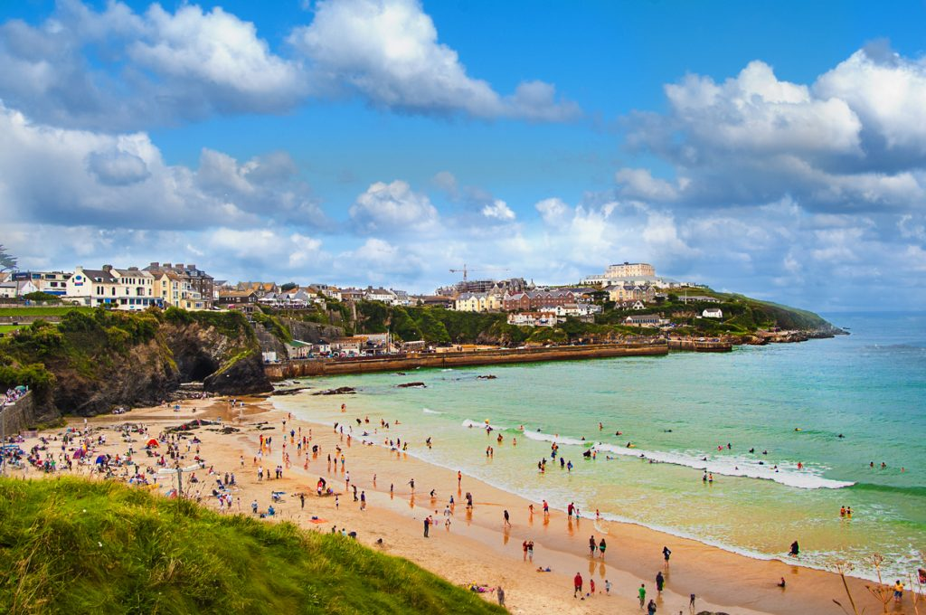Tolcarne Beach in Newquay, South West UK