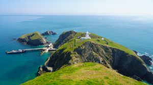 Birds Eye View of Lundy Island, North Devon, South West England