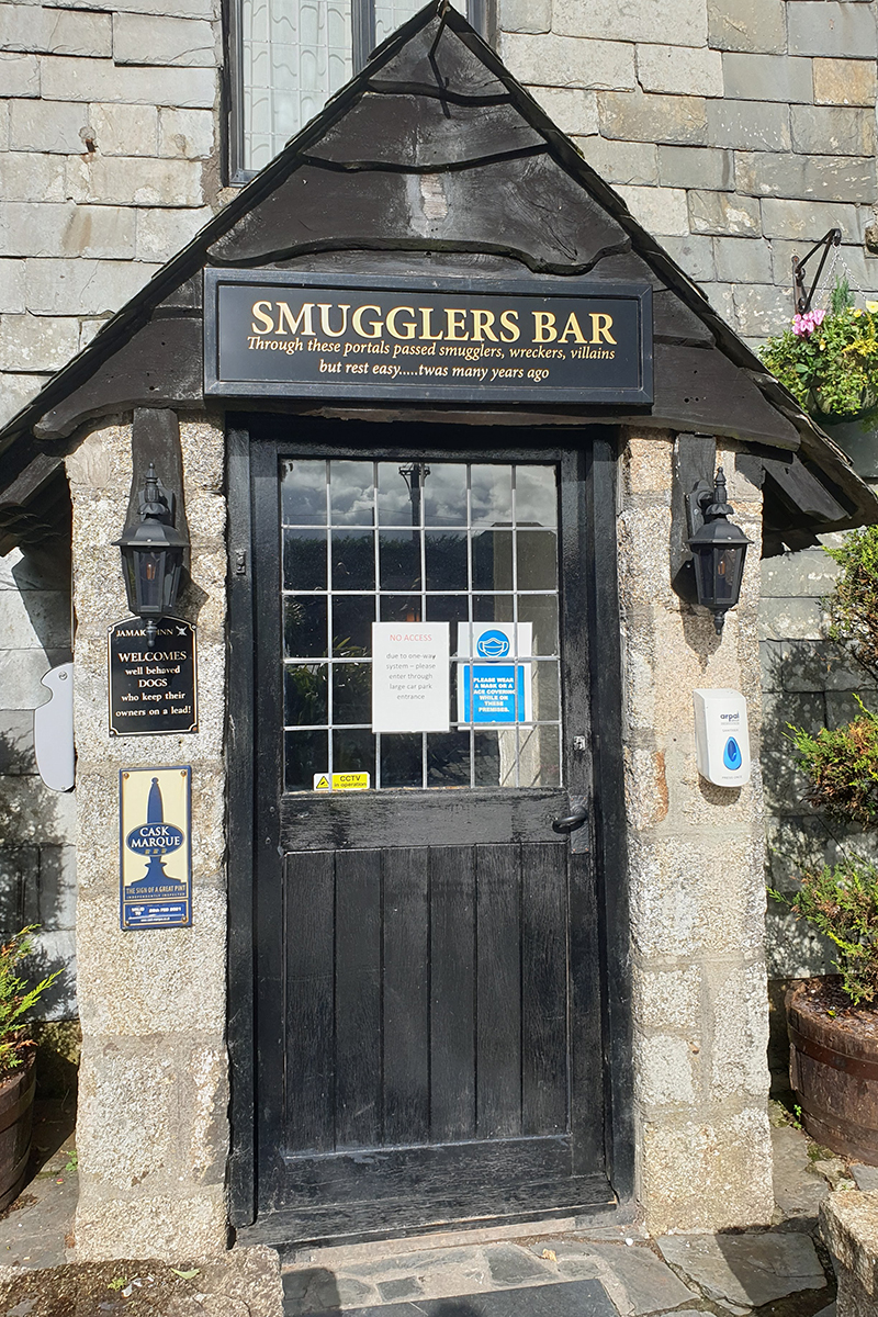 Smugglers Bar in Jamaica Inn near Bodmin in Cornwall, South West England