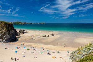 Lusty Glaze Beach Newquay Cornwall England