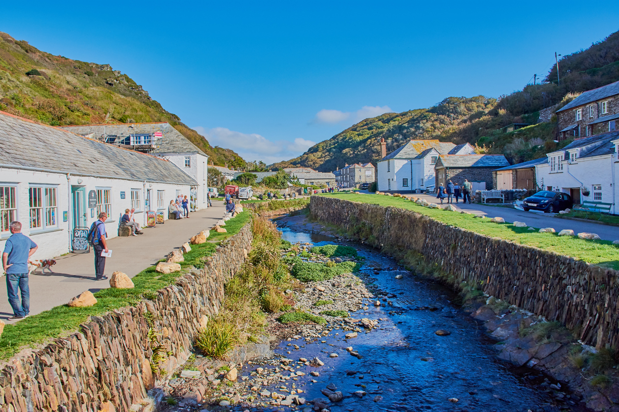 River in Boscastle, Cornwall, South West England