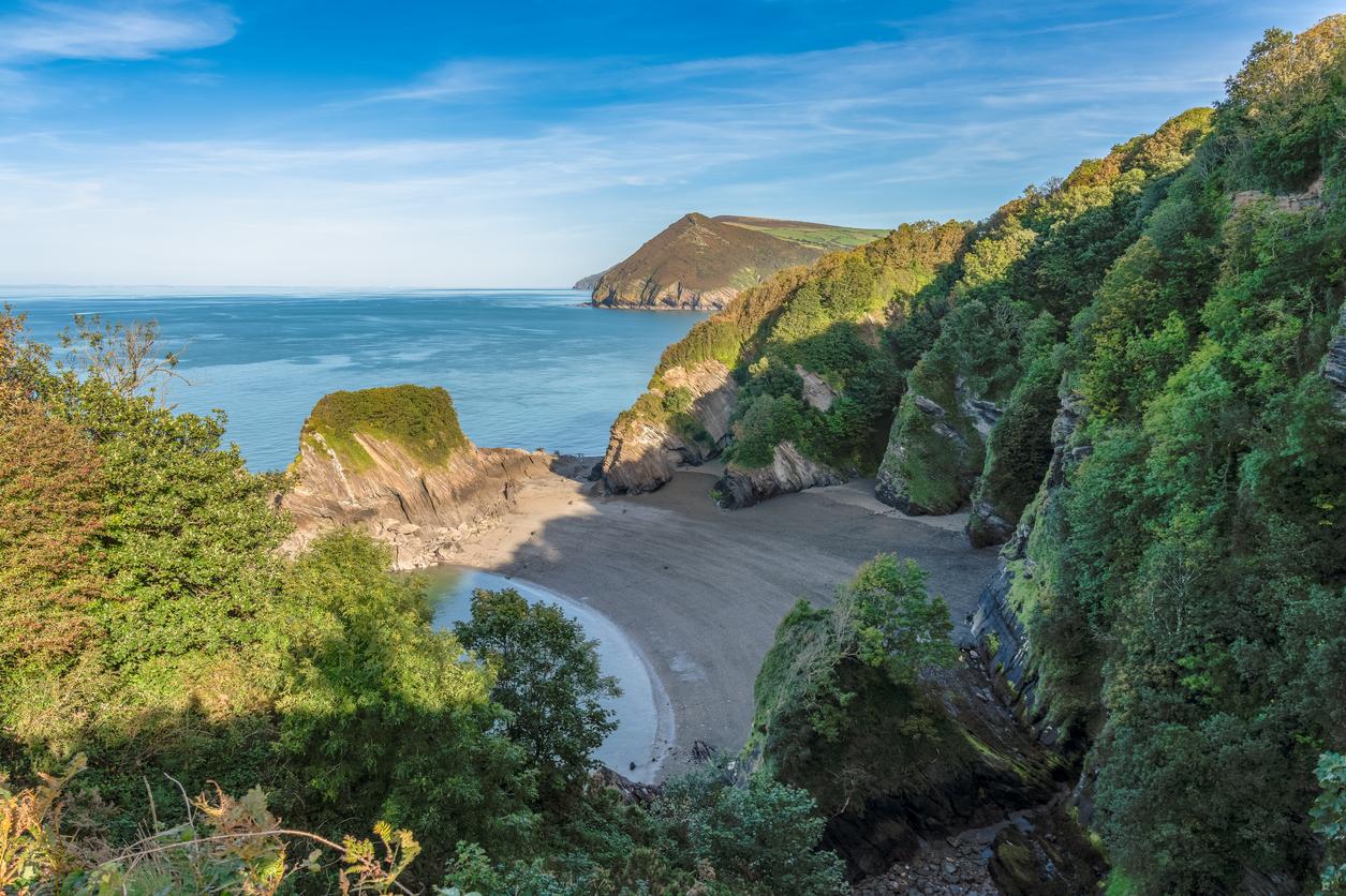 Broadsands Beach in North Devon, South West England