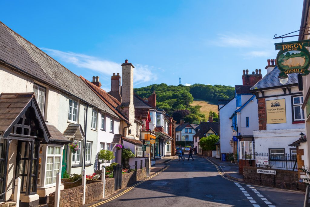 Pretty village of Porlock, Somerset