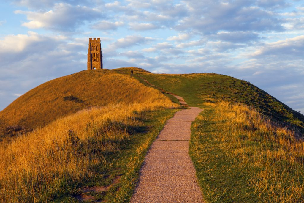 Glastonbury Tor in Somerset, South West England