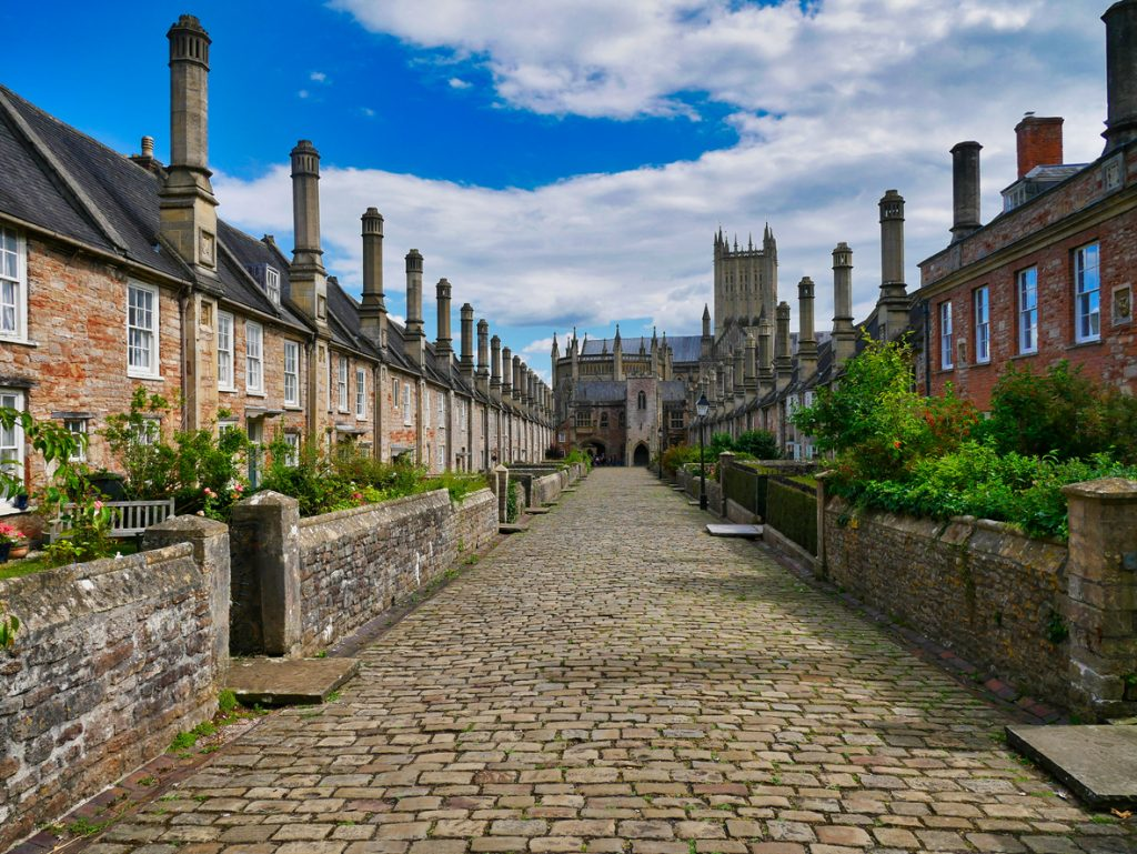 Vicars' Close in Wells, Somerset, South West England