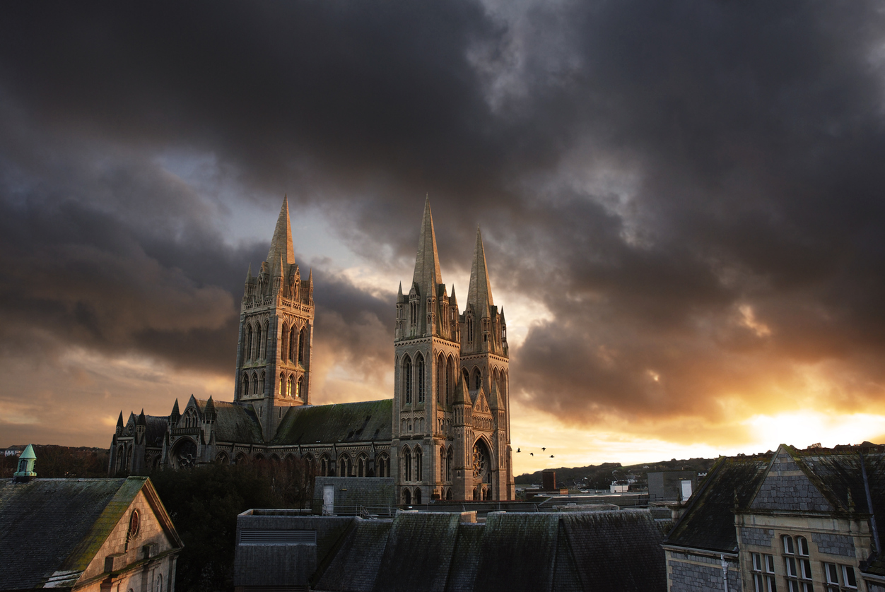 Sunset over Truro Cathedral