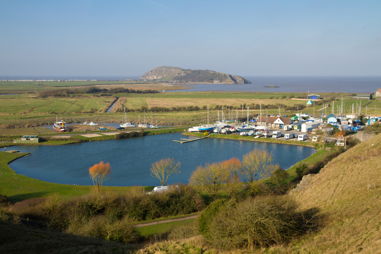 Brean Down near Weston Super Mare in Somerset, South West England