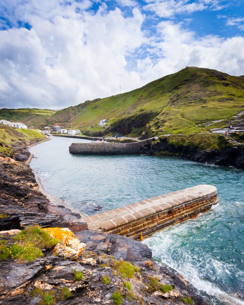 The Harbour of Boscastle in Cornwall, South West England