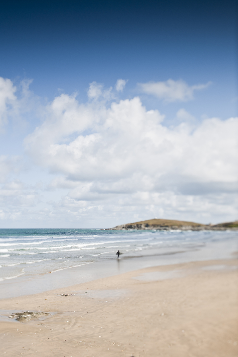 Fistral Beach in Newquay, Cornwall, South West England