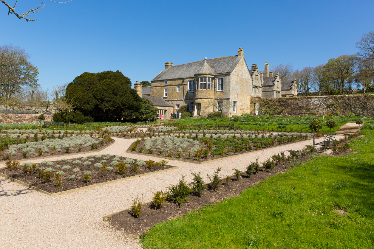 Elizabethan manor house and gardens Trerice House Newquay Cornwall