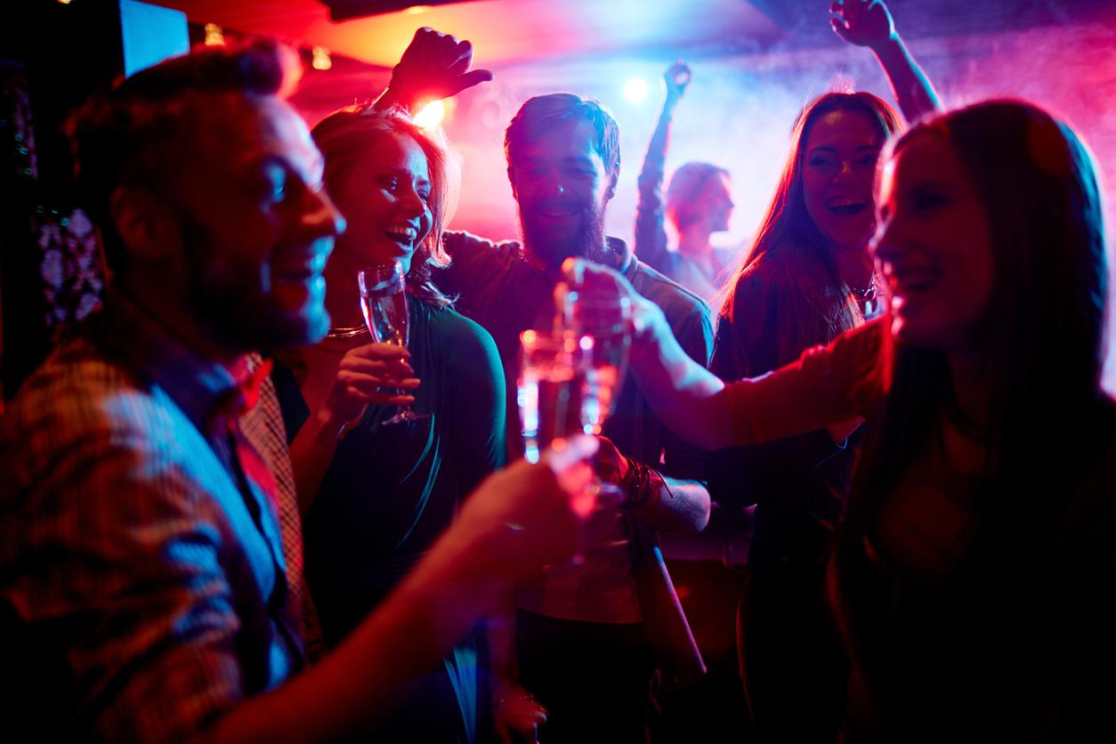 People having fun in a nightclub