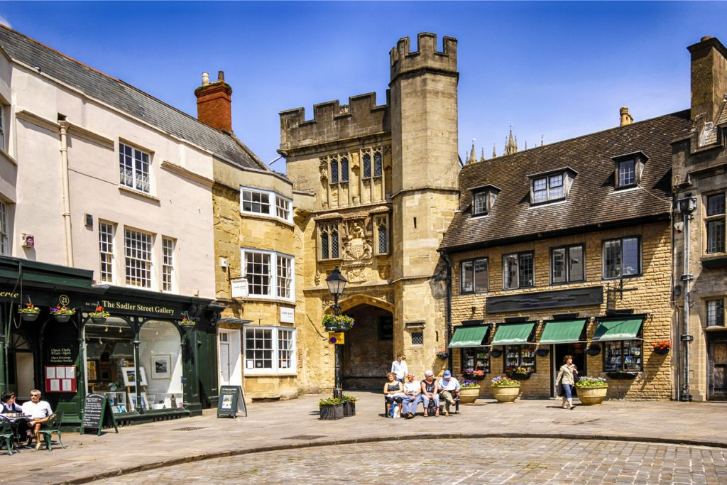 The City Market Square of Wells, Somerset, South West England
