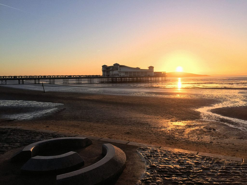 Sunset by Weston Super Mare