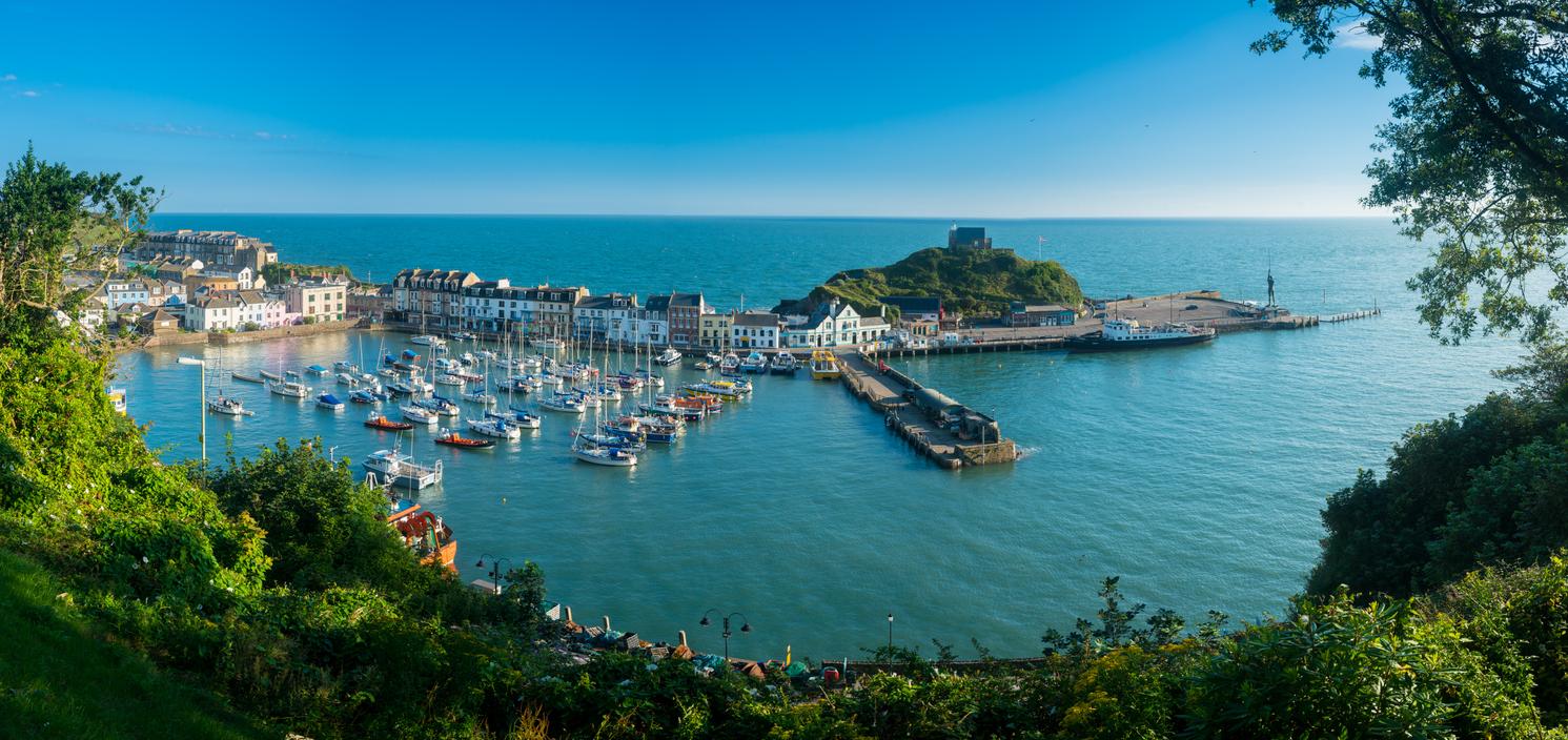 Beautiful town of Ilfracombe in Devon