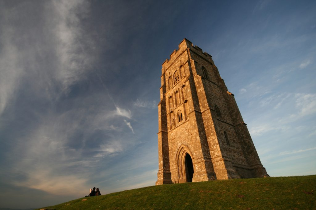 Close up of Glastonbury Tor, Somerset, South West England