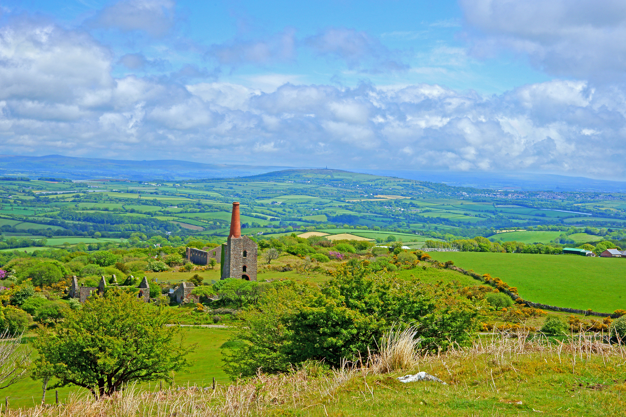 Beautiful view of Bodmin Moor in Cornwall, South West England