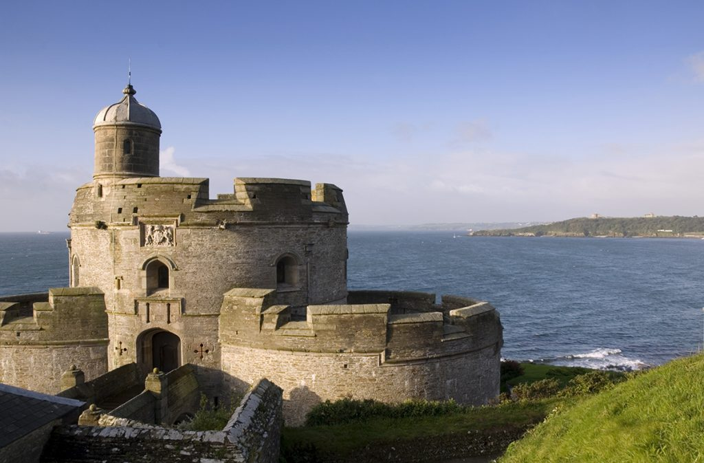 ST MAWES CASTLE View past the castle out to sea. DP053994