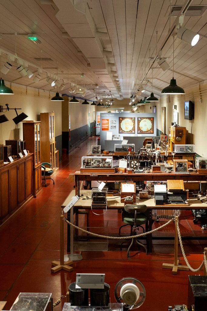 The inside of the Cornish telegraph museum