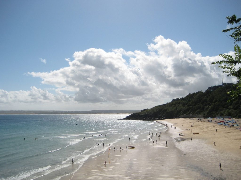 Carbis Bay Beach in West Cornwall, UK
