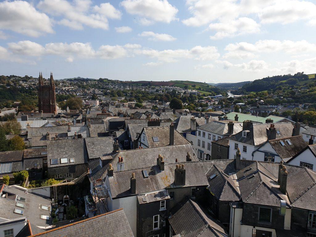 Rooftops in Totnes, Devon, UK