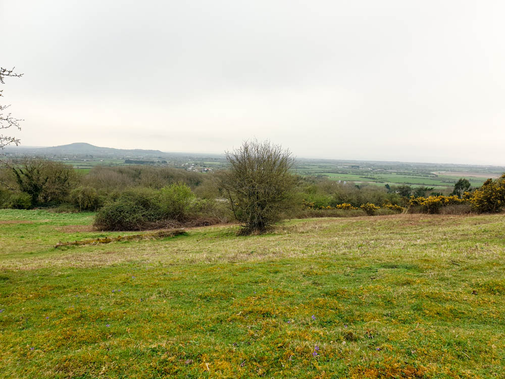 View from Bleadon Hill in Mendips, Somerset