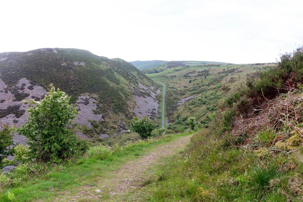 Porlock to Lynmouth hike steep road
