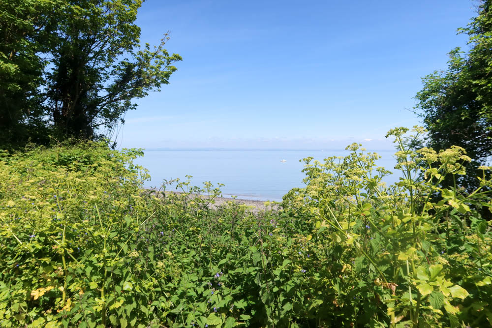 View of sea near Minehead