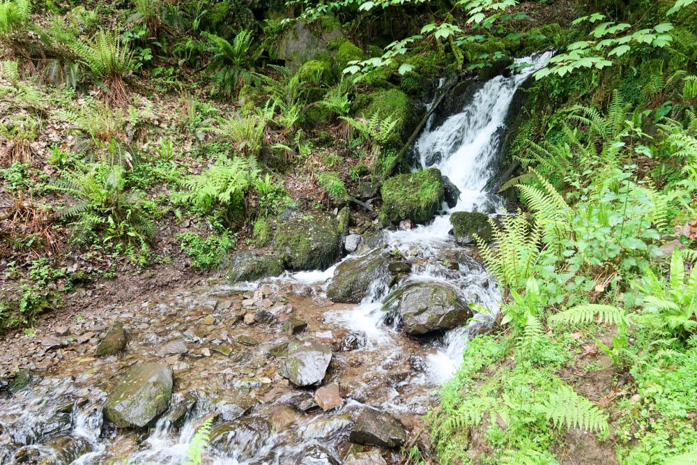 Waterfall crossing on Porlock to Lynmouth hike