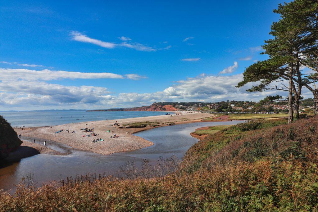 A landscape photograph of Budleigh Salterton beach in Devon.A landscape photograph of Budleigh Salterton beach in Devon.