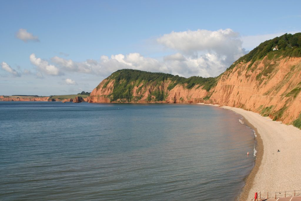 Stunning Cliffs.  Photo taken from the top of Jacobs Ladder.  Far reaching views towards Budleigh Salterton and Exmouth