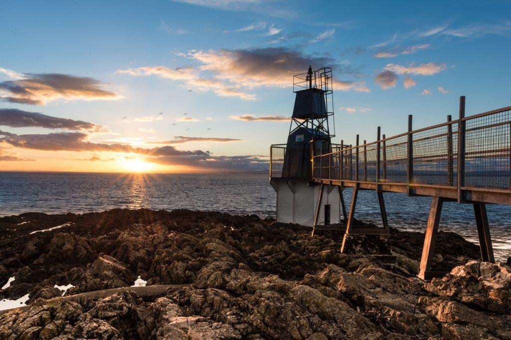 Lighthouse in Portishead sunset