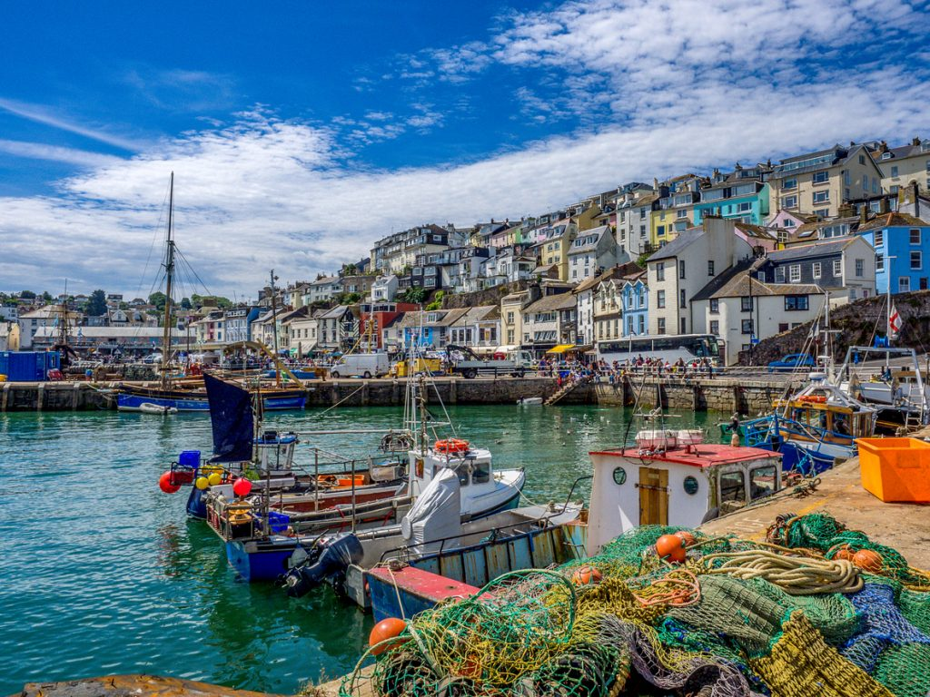 The coastal village of Brixham, Devon.