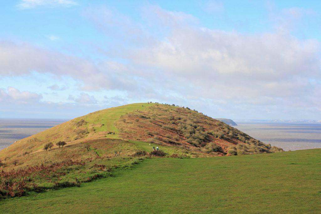 Great landmarks of the Somerset coastline on the scenic coastal walk across Brean Down.
