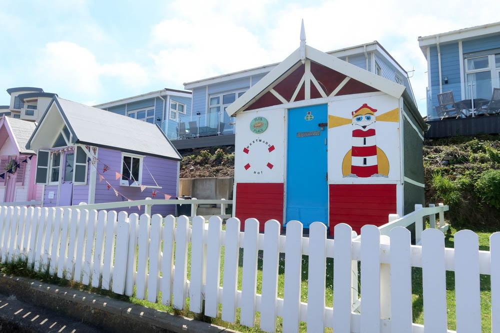 Beach houses at Westward Ho!