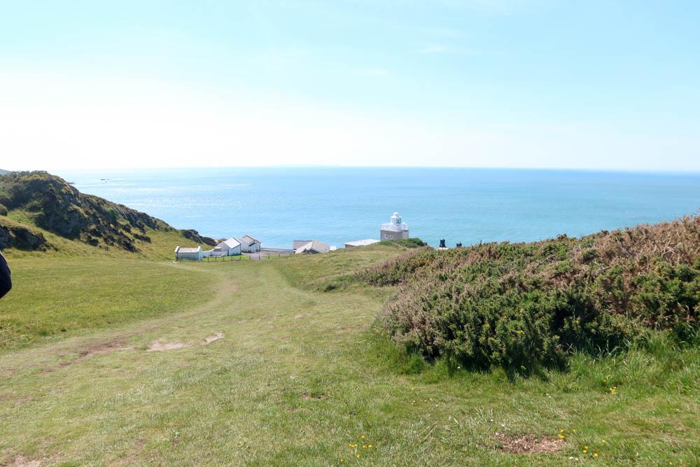 Bull Point Lighthouse near Mortehoe