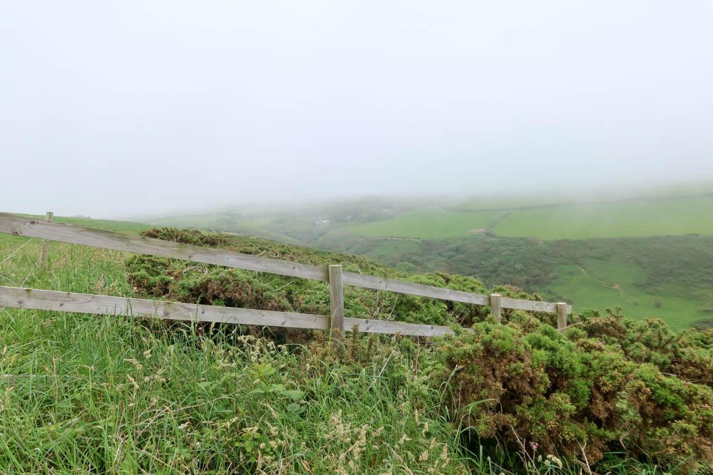 Fence on Hartland Quay Bude hike
