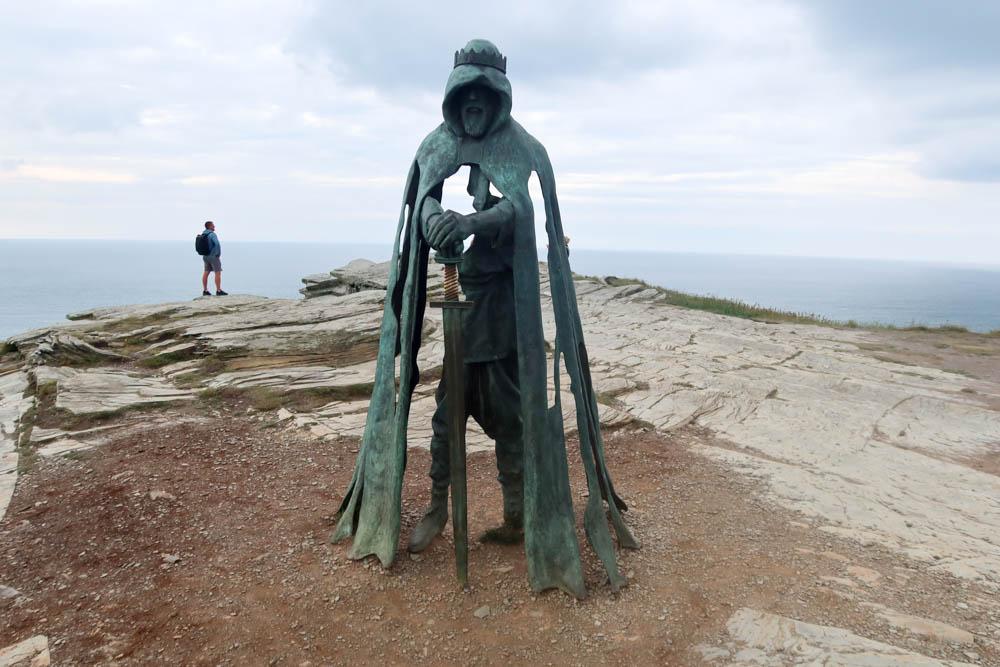 Merlin statue at Tintagel