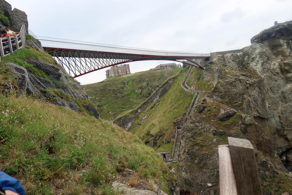 View of bridge at Tintagel