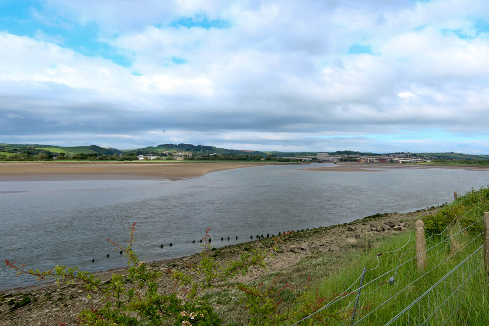 River Taw with Barnstaple Long Bridge in Background