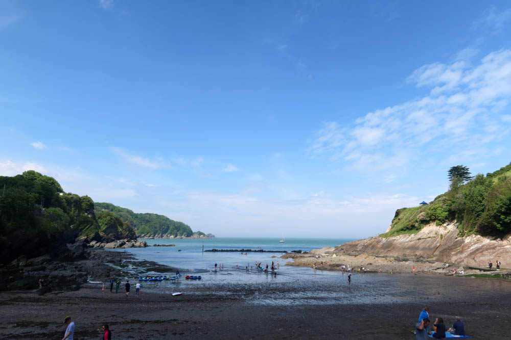 Shadowy view over Combe Martin Beach