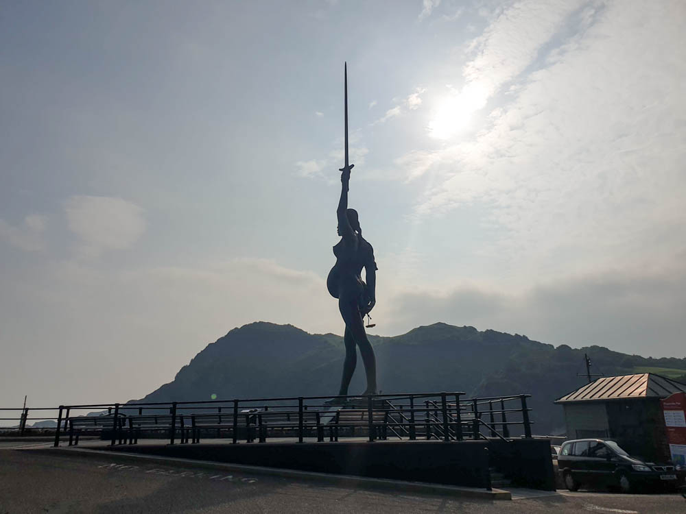 Statue of Verity in Ilfracombe